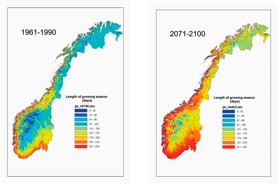 fargekode kart NOU 2010: 10   regjeringen.no fargekode kart