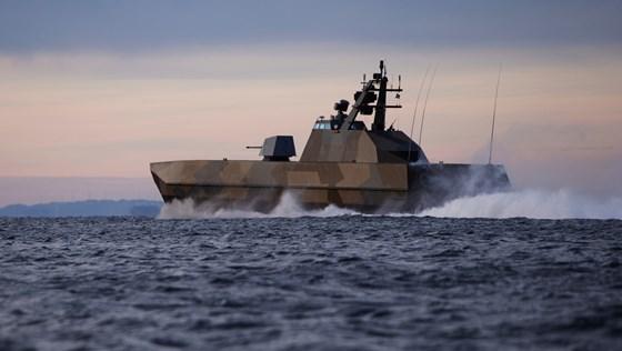 Bildet viser korvetten KNM Skjold