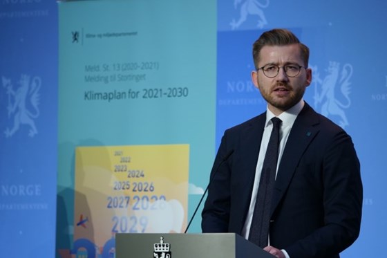 Minister of Climate and Environment Sveinung Rotevatn.