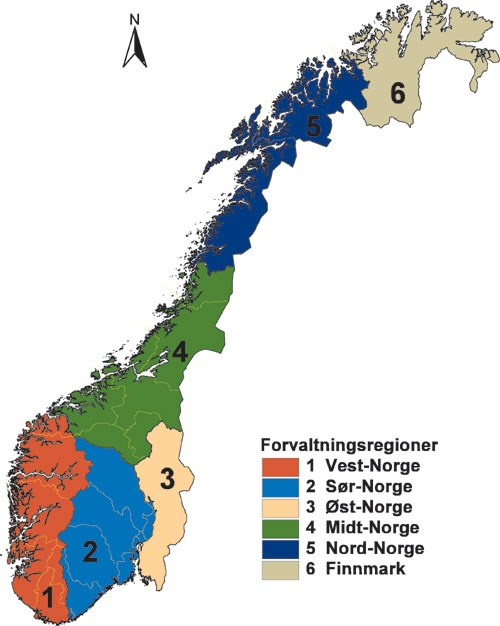 kart over norge med fylkesgrenser St.meld. nr. 15 (2003 2004)   regjeringen.no kart over norge med fylkesgrenser