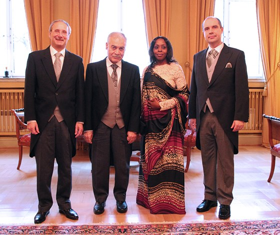 From left: Ambassador of Switzerland, H.E. Dr Alain-Denis Henchoz, Ambassador of Iraq, H.E. Mr Shakir Qasim Mahdi, Ambassador of Rwanda, H.E. Ms Christine Nkulikiyinka, Ambassador of the Czech Republic, Mr Jaroslav Knot