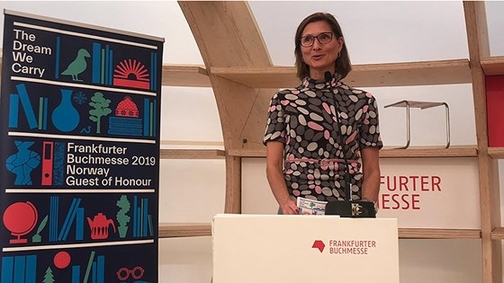State Secretary Marianne Hagen held the opening statement at the Frankfurt Book Fair on 11 October 2018.