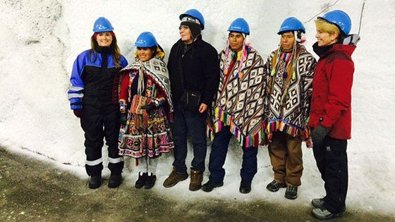 Last fall Ms Blaafjelldal participated as representatives from the Quechua people of Peru deposited potato seeds at Svalbard Global Seed Vault. Here are the delegations from Peru and Costa Rica with State Secretary Blaafjelldal and executive director of the Global Crop Diversity Trust, Aaslaug Haga.