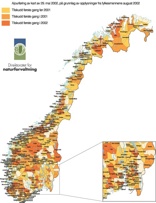 kommune kart over norge St.meld. nr. 25 (2002 2003)   regjeringen.no kommune kart over norge