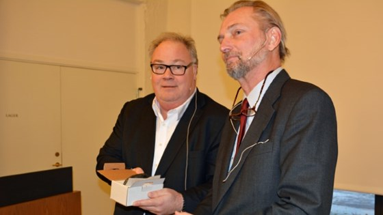 Former state secretary Bård Folke Fredriksen and the Swedish ambassador Axel Wernhoff.