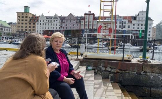 Erna Solberg in Bergen.