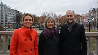 Minister of Culture Linda Hofstad Helleland, Marit Reutz, Board chair of the Cultural Business Development Foundation and Knut Olav Åmås, Director of the Fritt Ord Foundation.