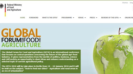 Website: The Global Forum for Food and Agriculture (GFFA).