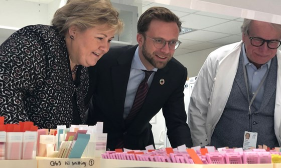 The Prime Minister and the Minister of Digitalisation visit Oslo University Hospital