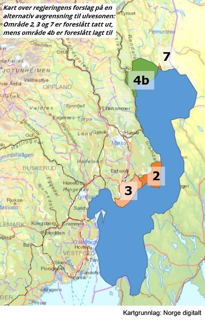 ulvesonen kart Ulv i norsk natur   regjeringen.no ulvesonen kart
