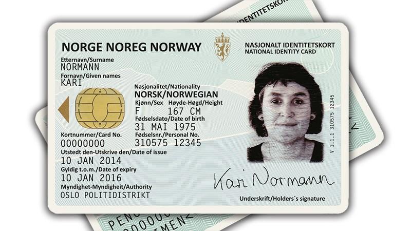Visa kort med legitimasjon