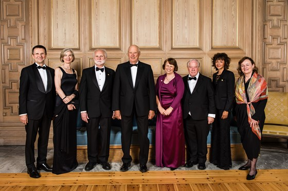 King Harald V and the Kavli Prize winners 2018