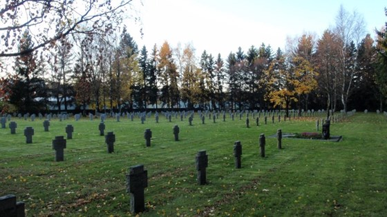 Alfaset German War Cemetery in Oslo.