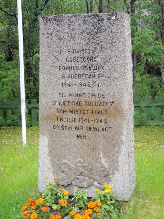 Memorial at Skafferhullet in Sør-Varanger municipality.