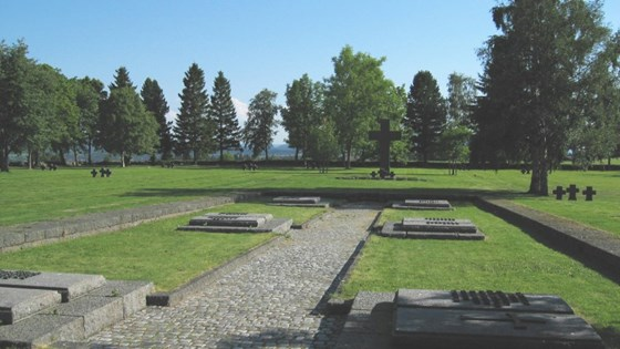 The German War Cemetery at Havstein farm, Byåsen.