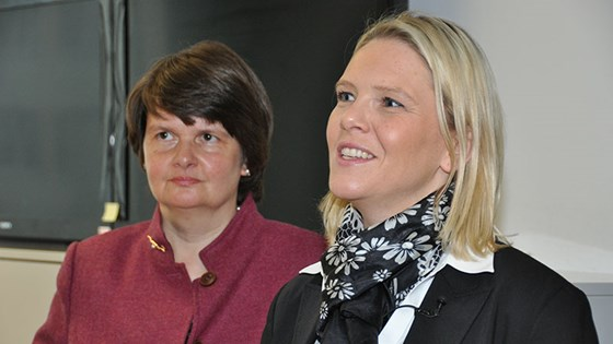 Minister of Food and Agriculture Sylvi Listhaug and State Secretary of the German Ministry of Food and Agriculture, Maria Flachsbarth met on Monday 25.