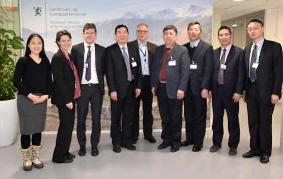 Delegasjon fra Anhui-provinsen i Kina.