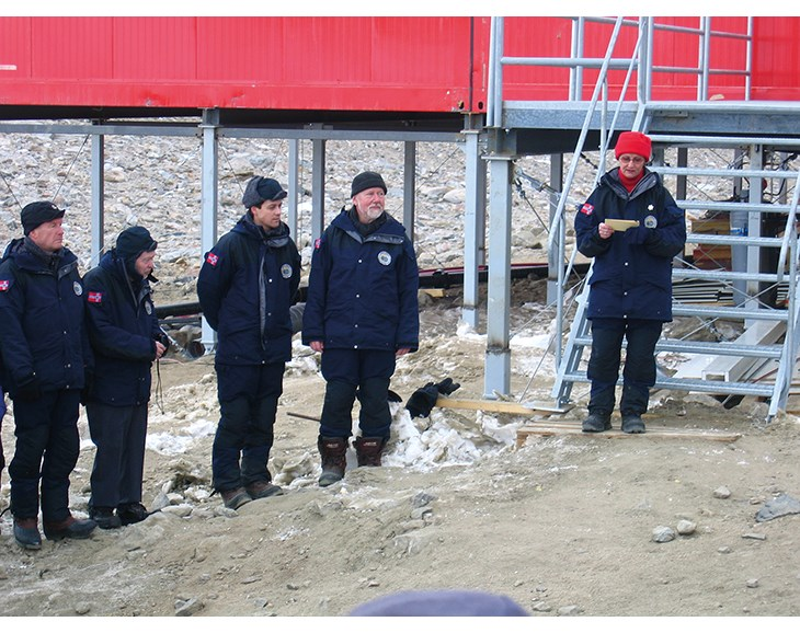 Figure 3.11 The year-round Troll station was officially opened by HM Queen Sonja on 12 February 2005.