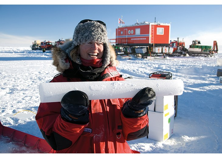 Figure 6.5 The first ice core to be extracted from the ice.
