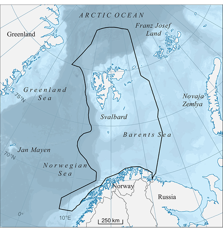Figure 1.1 The Barents Sea–Lofoten management plan area.