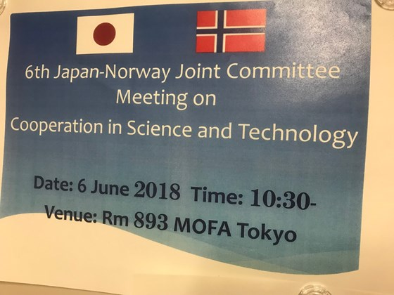 Poster from Japan-Norway Joint Committee Meeting