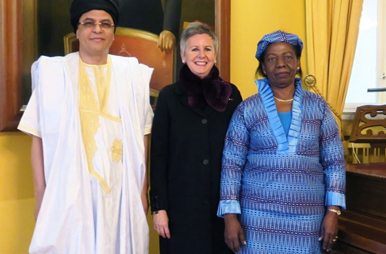Ambassadors from (from left) Mauritania, Luxembourg and DR Congo