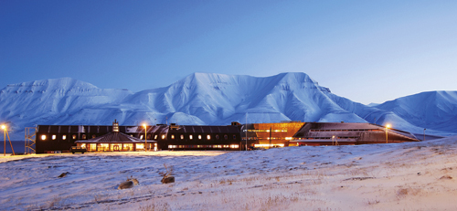 Figure 8.1 The University Centre in Svalbard and the Svalbard Research  Centre.