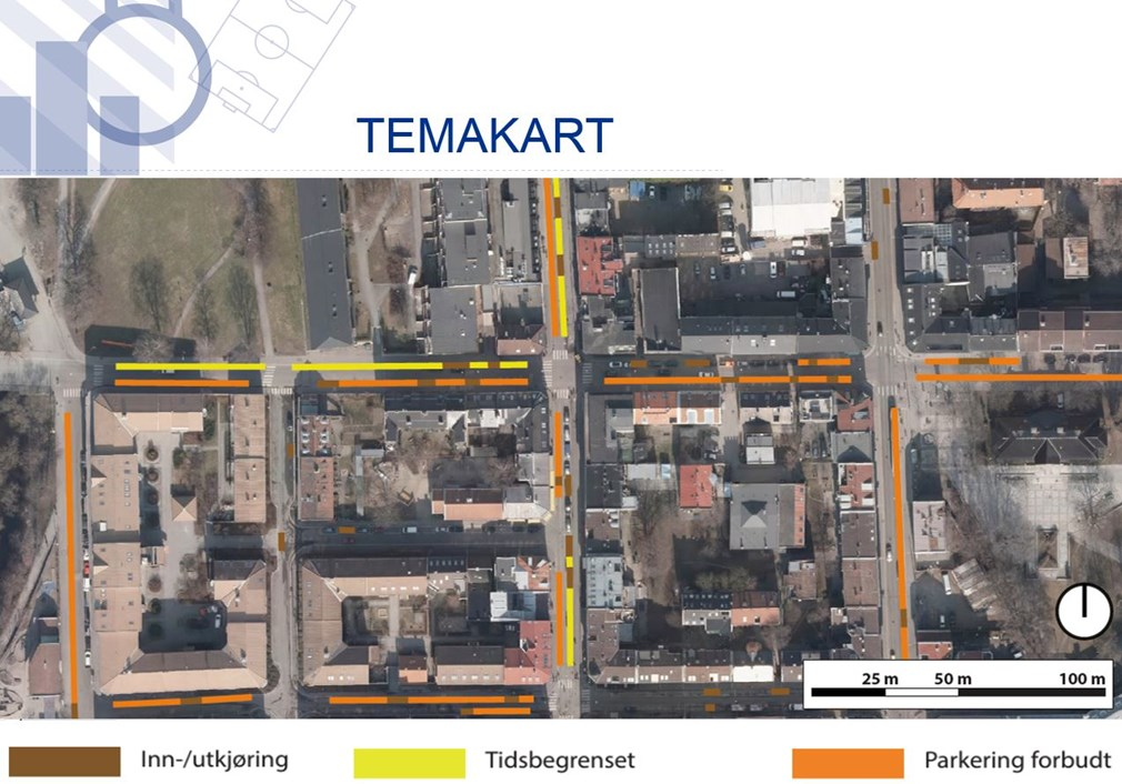 Temakart for parkering i Oslo