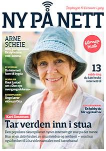 Forsiden av Ny på nett med et bilde av Kari Simonsen.