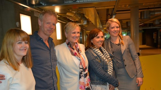 Four of the council's members attended the press conference on Thursday 26 June. From the left: Elisabeth Sjaastad, Kai Robøle, Thorhild Widvey, Anne Gaathaug and Stine Helén Pettersen.