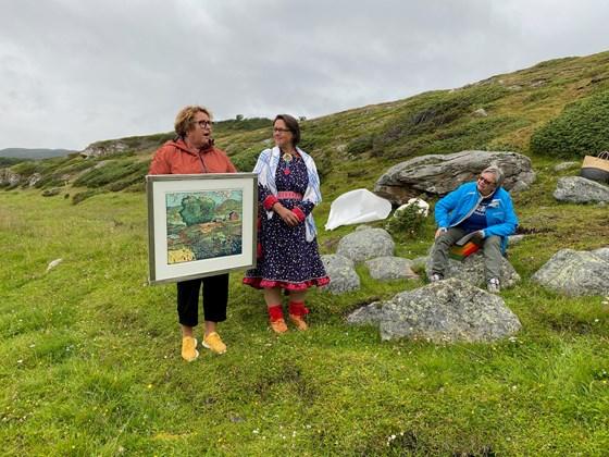 Landbruks- og matminister Olaug  Bollestad delte i dag ut Nasjonal kulturlandskapspris 2020 til Goarahat og Sandvikhalvøya i Porsanger kommune i Finnmark.
