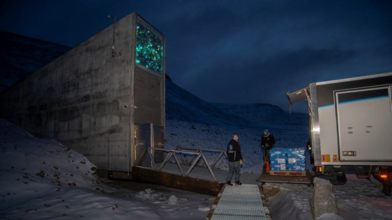 A new shipment of seeds has arrived at the Seed Vault.