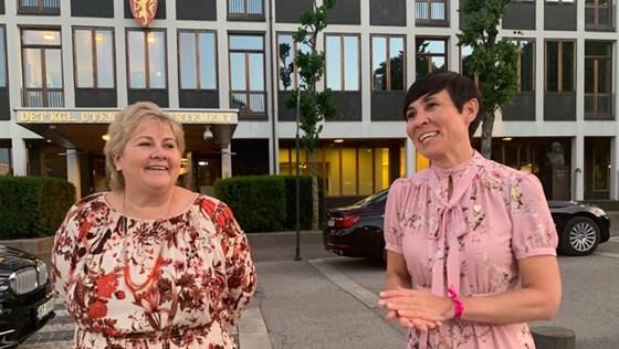Prime Minister Erna Solberg and Minister of Foreign Affairs Ine Eriksen Søreide