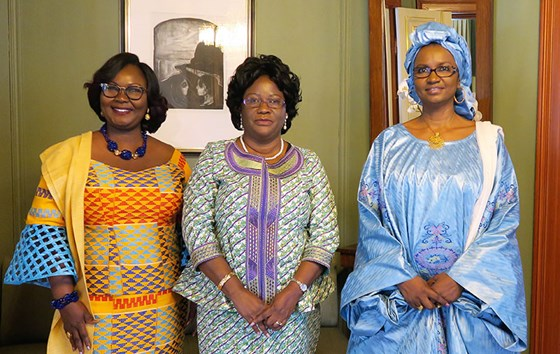 New ambassadors from Ghana, Zambia and Mali. Credit: Tonje Røed, MFA