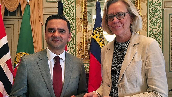 The agreement was signed in Lisbon on 22 May by State Secretary Elsbeth Tronstad and Portugal's Minister of Planning and Infrastructure Pedro Marques. Christian Grotnes Halvorsen, MFA, Oslo