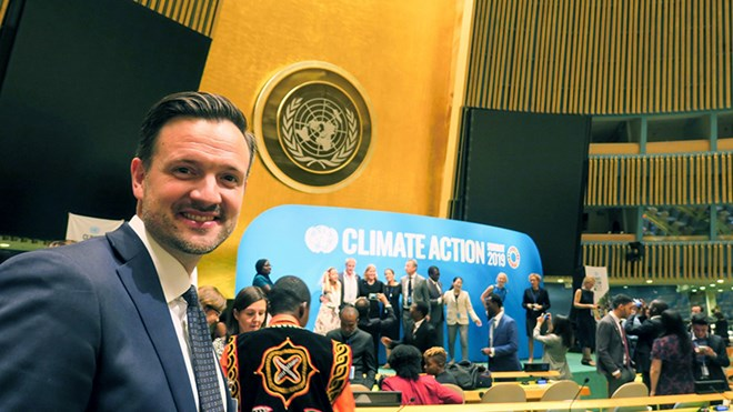 Norwegian Minister of International Development Dag-Inge Ulstein launched the Norwegian action plan on sustainable food systems at UN General Assembly. Credit: Gjermund Øystese, MFA
