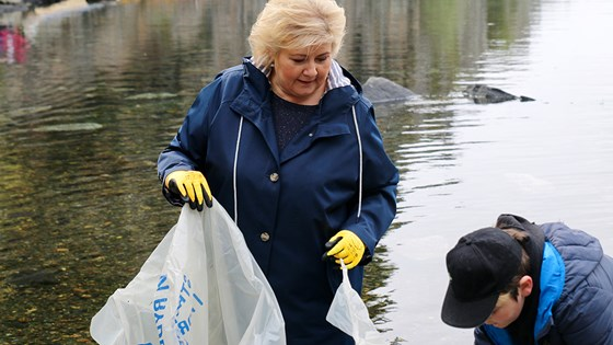 Ms Solberg has a long-standing, strong commitment to improving ocean management. Credit: OPM