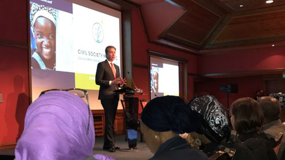 Minister of Foreign Affairs, Børge Brende, opens the donor conference for Nigeria and Lake Chad region. Photo: Marta B. Haga, MFA