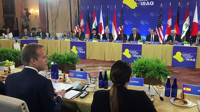 Minister of Foreign Affairs Børge Brende attended the Pledging Conference in support of Iraq in Washington, DC on 20 July 2016.