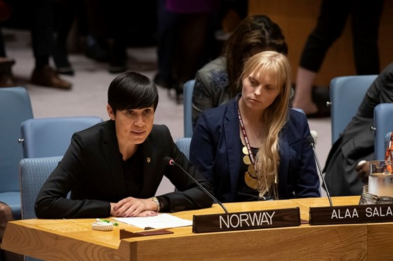 Minister of Foreign Affairs Ine Eriksen Søreide at the UN Security Council. Credit: Evan Schneider, UN Photo