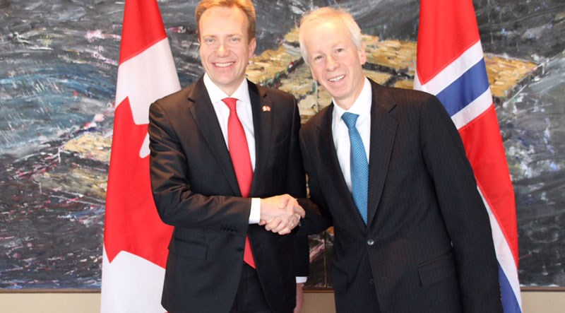 Ministers of Foreign Affairs from Norway and Canada.