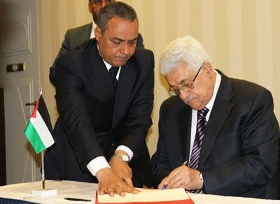 President Abbas signed the agreement in Oslo on 18 July.