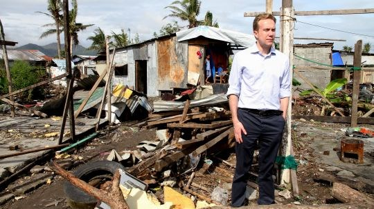 Two months after the devastating typhoon hit the Philippines, Mr Brende visited some of the most seriously affected areas. Photo: Astrid Sehl, MFA