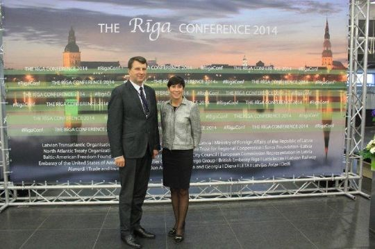 The Norwegian Minister of Defence Ine Eriksen Søreide met her collegue from Latvia Raimonds Vejonis