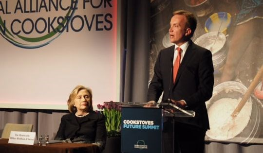 Hillary Clinton and Børge Brende
