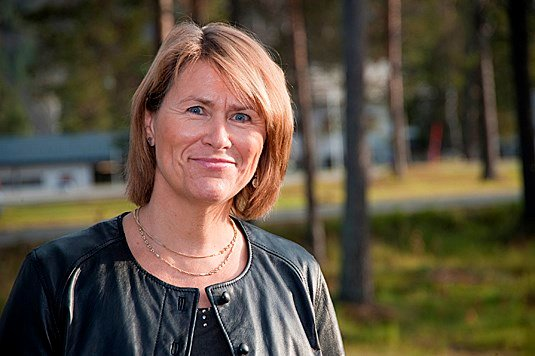 Defence Minister Grete Faremo presented the budget at Bardufoss. - Photo: Malin Waaler, Norwegian Army