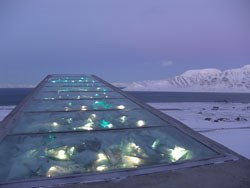The decoration. Foto:  Mari Tefre/Svalbard Globale Seed Vault