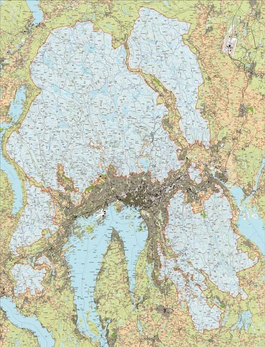 kart over marka N] Norway   road infrastructure • Veier i Norge   Page 145  kart over marka
