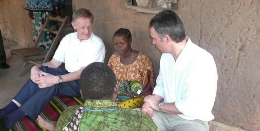 Dr Godal and Prime Minister Jens Stoltenberg visiting Tanzania in 2008 (Photo: Office of the Prime Minister)