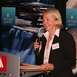 Ekspedisjonssjef Elisabeth Roderburg. Foto: de Brisis, UD